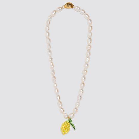 longue section tissé à la main ananas pendentif collier de perles collier personnalité fruit pendentif bijoux en gros nihaojewelry NHLA221336's discount tags