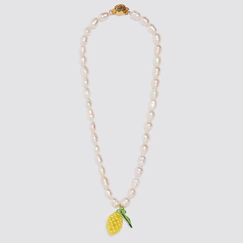 longue section tiss  la main ananas pendentif collier de perles collier personnalit fruit pendentif bijoux en gros nihaojewelry NHLA221336