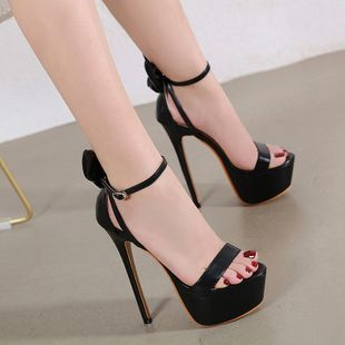 summer new super high heels style three-dimensional bow high-heeled sexy sandals wholesale nihaojewelry NHCA223972's discount tags