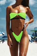 nouvelle couleur unie maillot de bain fendu sexy bikini gros nihaojewelry NHHL224042