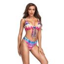 Nouveau dames maillots de bain sexy split bikini maillot de bain sans poitrine poitrine pad impression taille haute maillot de bain en gros nihaojewelry NHHL224058