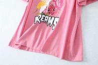 summer pink beauty printed womens shortsleeved Tshirt top wholesale nihaojewelry NHAM224194