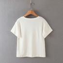 summer white horse print ladies short sleeve Tshirt wholesale nihaojewelry NHAM224219
