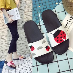 new slippers men's summer anti-skid indoor home fashion bathroom couple home wear sandals and slippers men wholesale nihaojewelry NHATX224256's discount tags