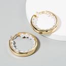 new fashion exaggerated creative Cshaped earrings female alloy pearl temperament highend earrings wholesale nihaojewelry NHLN224266