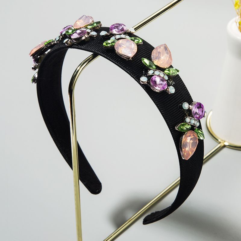 Korean new retro baroque hair hoop flower fairy wide-brimmed headband wholesale nihaojewelry NHLN224272
