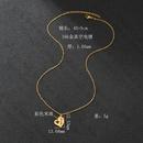 Core du Sud populaire nouveaux produits simple cratif creux trfle  quatre feuilles collier en acier inoxydable couleur bonbons perles de riz amour collier en gros nihaojewelry NHHF224312