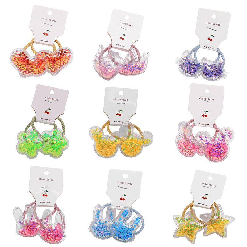 Children's hair rope headdress five-pointed star cute baby hair circle Korean girl head rope infant hair accessories wholesale nihaojewelry NHPJ224432