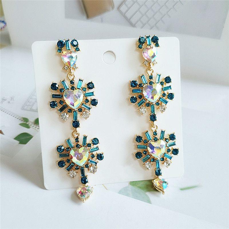 exaggerated retro earrings fashion diamond earrings fashion popular earrings jewelry wholesale nihaojewelry NHVA224441