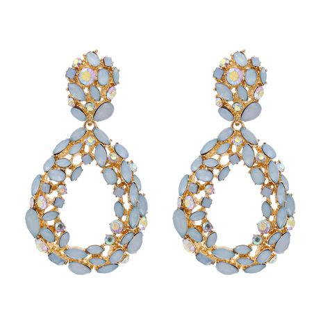 boucles d'oreilles de mode exagérées boucles d'oreilles goutte d'eau géométrique diamant personnalisé boucles d'oreilles rétro bijoux en gros nihaojewelry NHJJ224485's discount tags