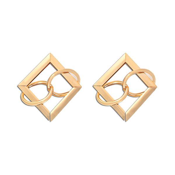 intellectual elegant geometric diamond earrings temperament long section fashion high sense Japanese and Korean temperament fresh and versatile wholesale nihaojewelry NHJQ224514