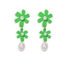 daisy flower earrings Korean temperament small fresh flowers pearl simple fashion earrings wholesale nihaojewelry NHJQ224516