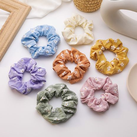 Summer puff flowers wild large intestine circle girl Mori cute rubber band daisy tie hair ring wholesale nihaojewelry NHMS224538's discount tags