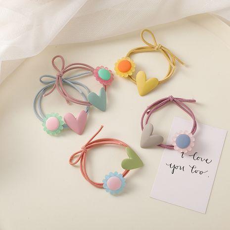 Simple tempérament gelée couleur fleurs amour cheveux accessoires forêt super fée bundle cheveux corde en gros nihaojewelry NHMS224558's discount tags