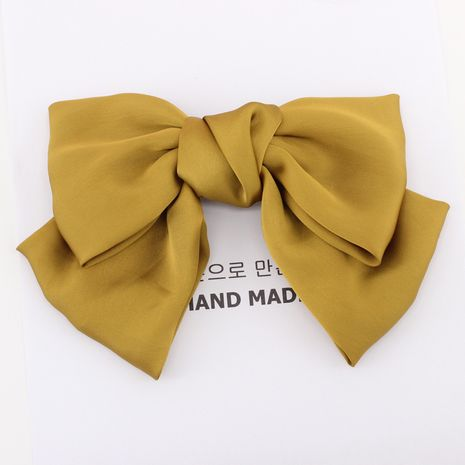 Japan and South Korea original Korean college style hairpin silk satin oversized bow hairpin top clip hair accessories wholesale nihaojewelry NHDM224570's discount tags