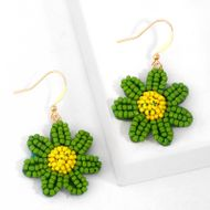 wild little daisy earrings girl sweet flowers earrings Mori rice beads earrings ear hook wholesale nihaojewelry NHAS224584