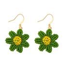wild little daisy earrings girl sweet flowers earrings Mori rice beads earrings ear hook wholesale nihaojewelry NHAS224584