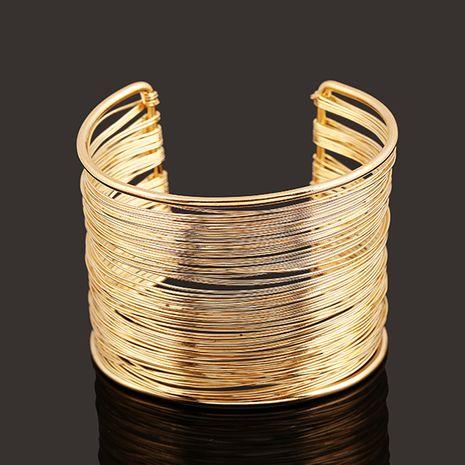 mode nouveau bijoux or argent fil ouverture bracelet en gros nihaojewelry NHNZ224595's discount tags