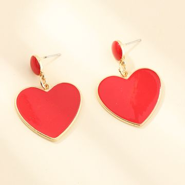 fashion jewelry new sweet love earrings temperament wild peach heart earrings wholesale nihaojewelry NHNZ224605