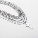 bijoux de mode personnalit hiphop mtal serpent os ornement gomtrique multicouche chane croix punk collier en gros nihaojewelry NHXR224612