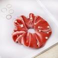 NHDM725938-Watermelon-Red-Nail-Pearl-Fabric-Hair-Tie
