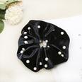 NHDM725943-Black-Studded-Pearl-Fabric-Hair-Tie