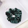 NHDM725945-Dark-Green-Nail-Pearl-Fabric-Hair-Tie