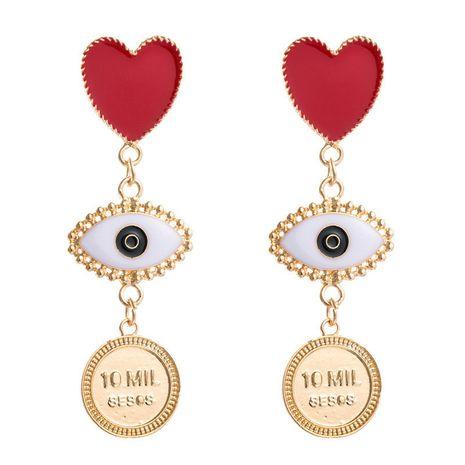 exagéré grande personnalité multi-couche alliage goutte huile amour yeux rétro boucles d'oreilles tempérament boucles d'oreilles en gros nihaojewelry NHJE224508's discount tags