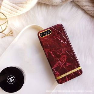 wine red marble 8plus mobile phone shell suitable for iPhone 11 xs max/7plus/XR soft shell wholesale nihaojewelry NHFI224646's discount tags