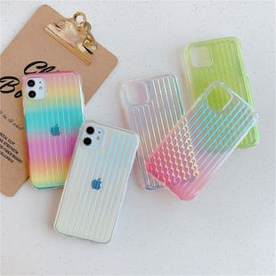 Transparent gradient suitcase soft phonecases suitable for iPhone 11 Pro/7/8plus/XR laser wholesale nihaojewelry NHFI224651's discount tags