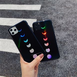 Literary eclipse Apple 11Pro mobile phone case for iPhonexs max/7plus/XR creative laser all-inclusive wholesale nihaojewelry NHFI224654's discount tags