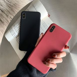 Simple pure black 8plus Apple x mobile phone shell XS Max/XR/iPhone7p/iphone6s couples wholesale nihaojewelry NHFI224656's discount tags