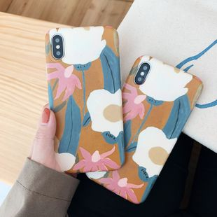 hand-painted flower mobile phone  case for XS Max/XR/iPhoneX 7p/iphone6s applicable wholesale nihaojewelry NHFI224658's discount tags