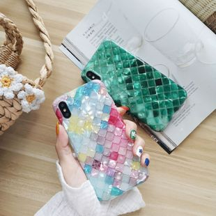 Mosaic shell pattern x mobile phone case XS Max/XR/iPhone7p/iphone6s wholesale nihaojewelry NHFI224662's discount tags