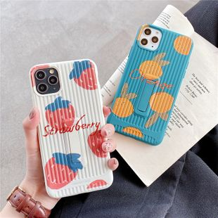 Strawberry orange mobile phone case for iPhone XS MAX creative all-inclusive anti-fall silicone wholesale nihaojewelry NHFI224669's discount tags