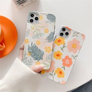 wind leaf illustration 11Pro max mobile phone case for iphone7/8plus/XR soft shell tide wholesale nihaojewelry NHFI224676's discount tags
