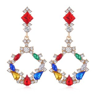 metal simple circle bright temperament exaggerated earrings wholesale nihaojewelry NHSC225008's discount tags