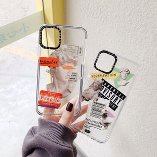 transparent tide brand art soft shell suitable for iphonexs max mobile phone shell 8plus/xr couple wholesale nihaojewelry NHFI224679's discount tags