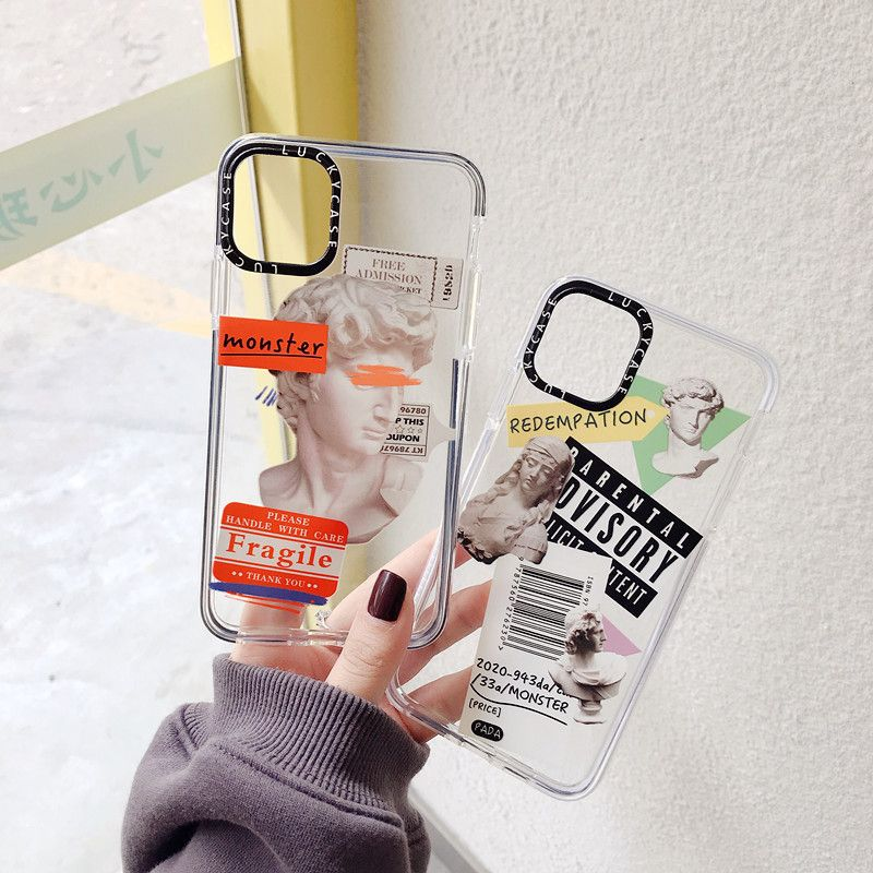transparent tide brand art soft shell suitable for iphonexs max mobile phone shell 8plusxr couple wholesale nihaojewelry NHFI224679