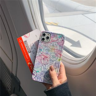 Creative passport stamped mobile phone shell for iphone8plus/XR all-inclusive soft shell wholesale nihaojewelry NHFI224681's discount tags