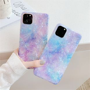 purple shell mobile phone shell attern for iPhonexs max/8/7plus protective shell wholesale nihaojewelry NHFI224683's discount tags