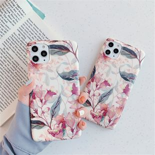 Retro oil painting flowers apple pro max mobile phone protective cover for apple xs/XR creative anti-fall shell couple wholesale nihaojewelry NHFI224688's discount tags