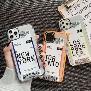 creative ticket mobile phone shell iPhone 11 Pro/11Promax/8plus soft shell wholesale nihaojewelry NHFI224689's discount tags