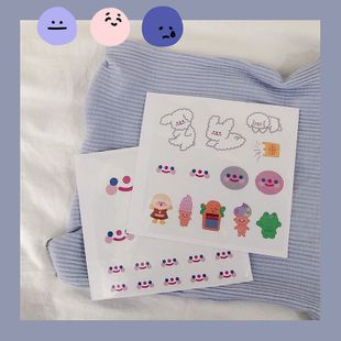 Creative cartoon hand account stickers cute decorative drawings smiley stickers stationery wholesale nihaojewelry NHHE224708's discount tags
