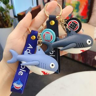 Shark doll key chain pendant car chain ring cute personality creative schoolbag pendant wholesale nihaojewelry NHBM224741's discount tags
