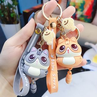 cute little meow key chain pendant fashion couple car key chain ring car creative pendant wholesale nihaojewelry NHBM224742's discount tags