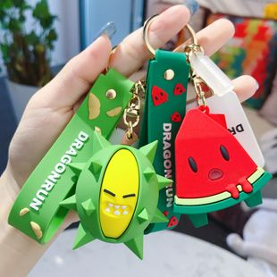 Korean cute fruit pendant cartoon durian car keychain creative personality schoolbag pendant key chain wholesale nihaojewelry NHBM224744's discount tags