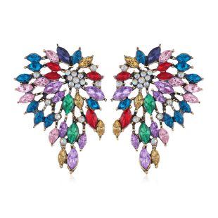 metal simple sparkle gems fashion temperament exaggerated earrings wholesale nihaojewelry NHSC225005's discount tags