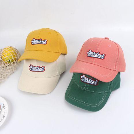 Sombrero para niños verano protector solar verano nueva gorra de béisbol bordado carta visera niña sombrero venta al por mayor nihaojewelry NHTQ224795's discount tags