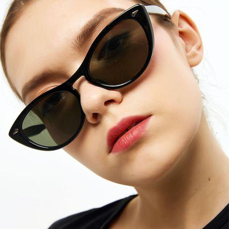 cat's glasses sunglasses female retro leopard rivet glasses wholesale nihaojewelry NHXU224824's discount tags